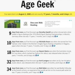 Age Geek Facts