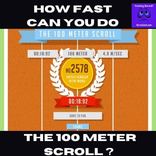 100 Meter Scroll