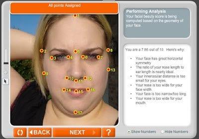 facial scoring website