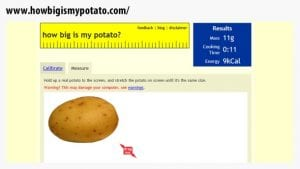 How big is my potato
