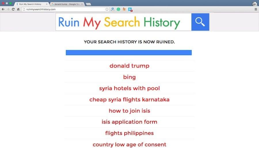 Ruin My Search History