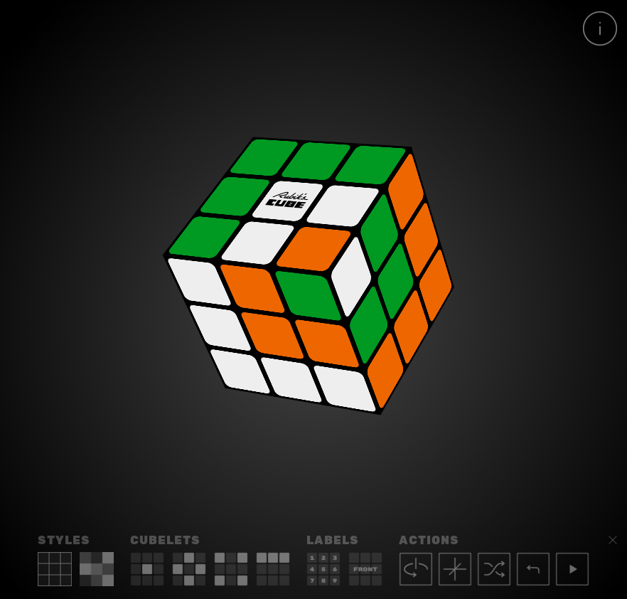 virtual rubiks cube