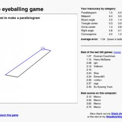 The Eyeballing Game