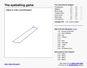 eyeballing game