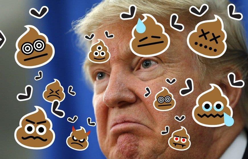 poop on trump