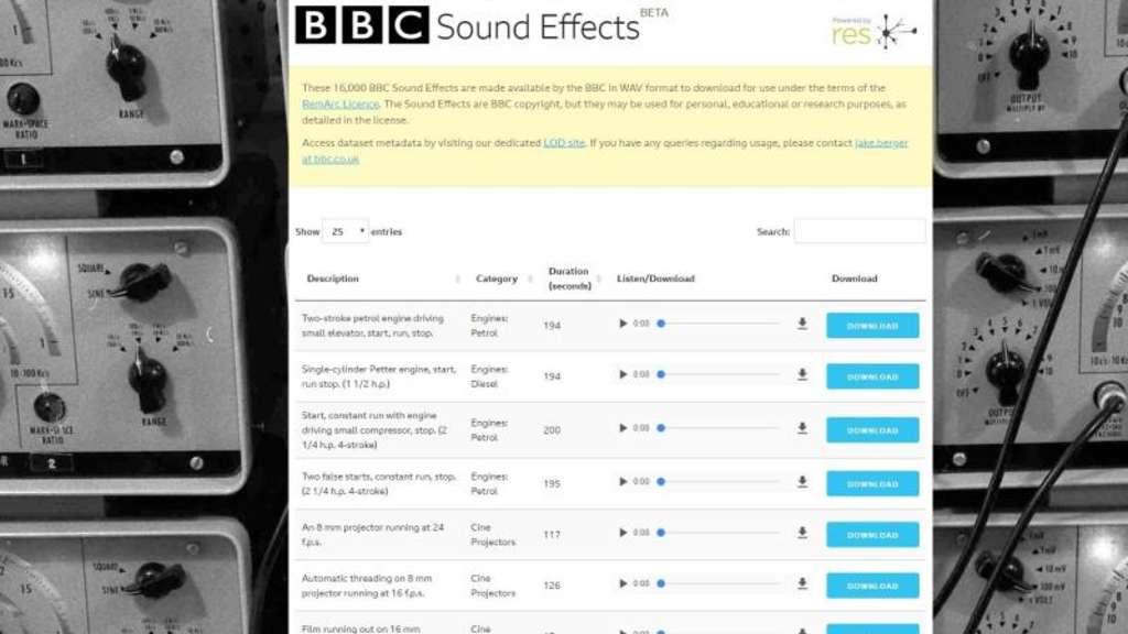 16000 sound effects