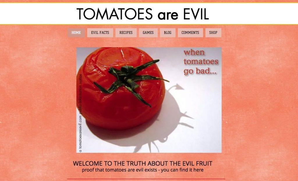 evil tomato haters