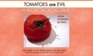 evil tomato haters