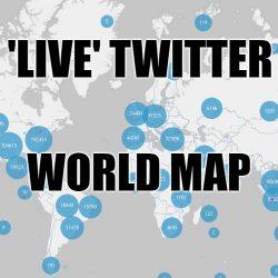 Live Twitter World Map
