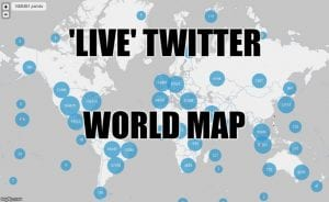 live twitter world map