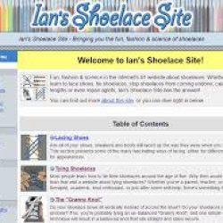 Interesting Shoelace Site