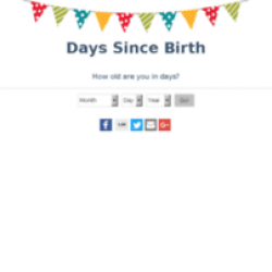 Days Since Birth