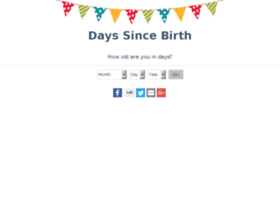 Days Since Birth
