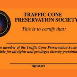 Traffic Cone Preservation Society