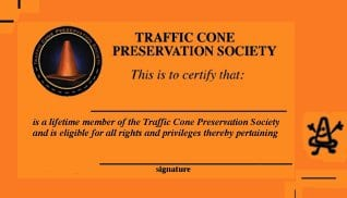 Traffic Cone Preservation Society