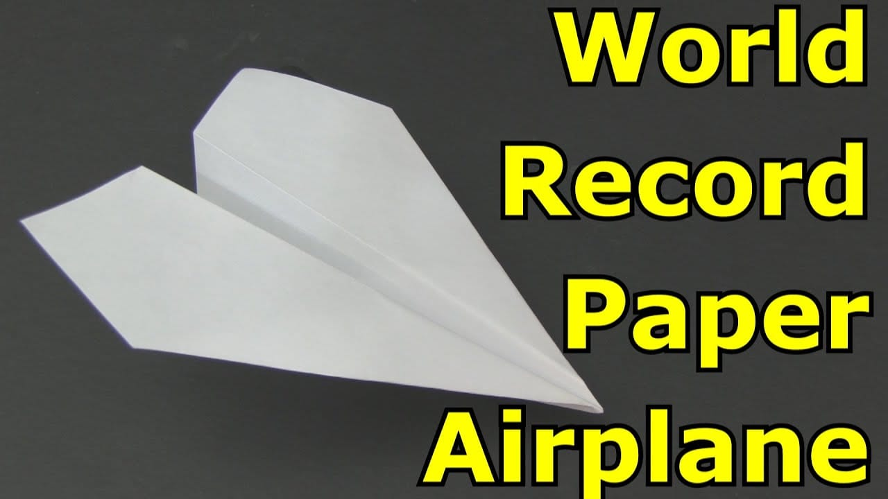 Fold A World Record Breaking Paper Plane