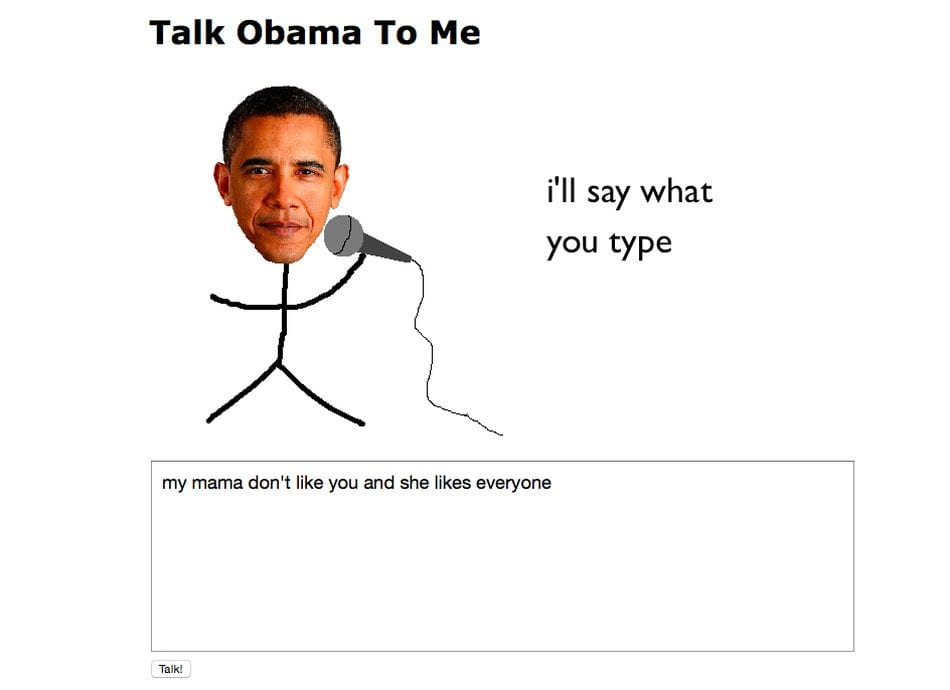 Funny Talk Obama To Me