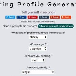 Funny Dating Profile Generator