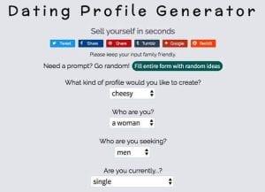 Dating Profile generator
