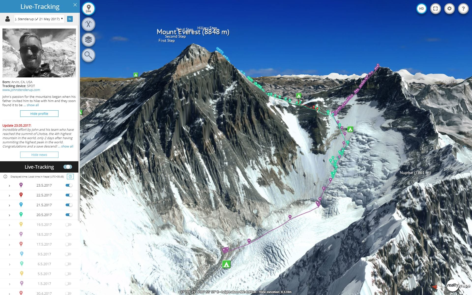 Mount Everest Virtual Climb