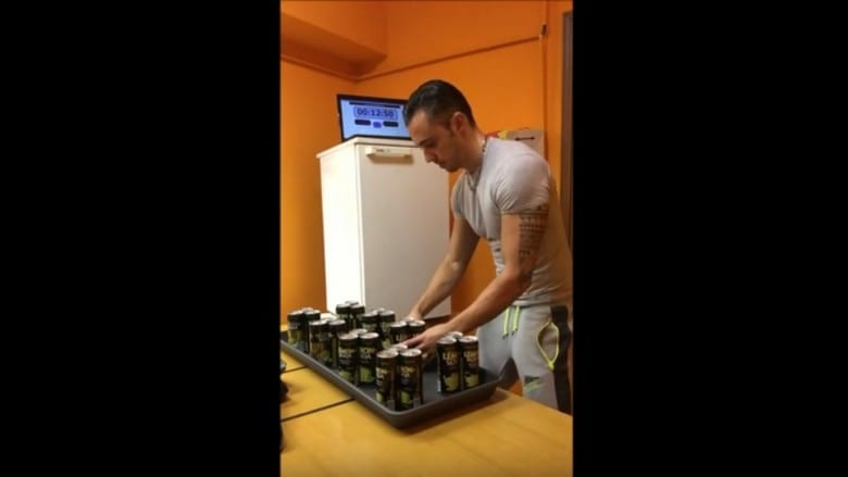 Fastest time to place 24 cans in a fridge