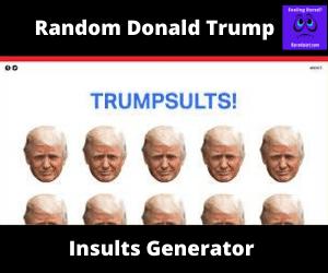 Random Donald Trump Insults Generator