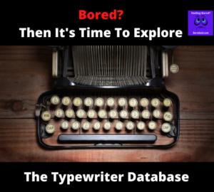 The typewriter database